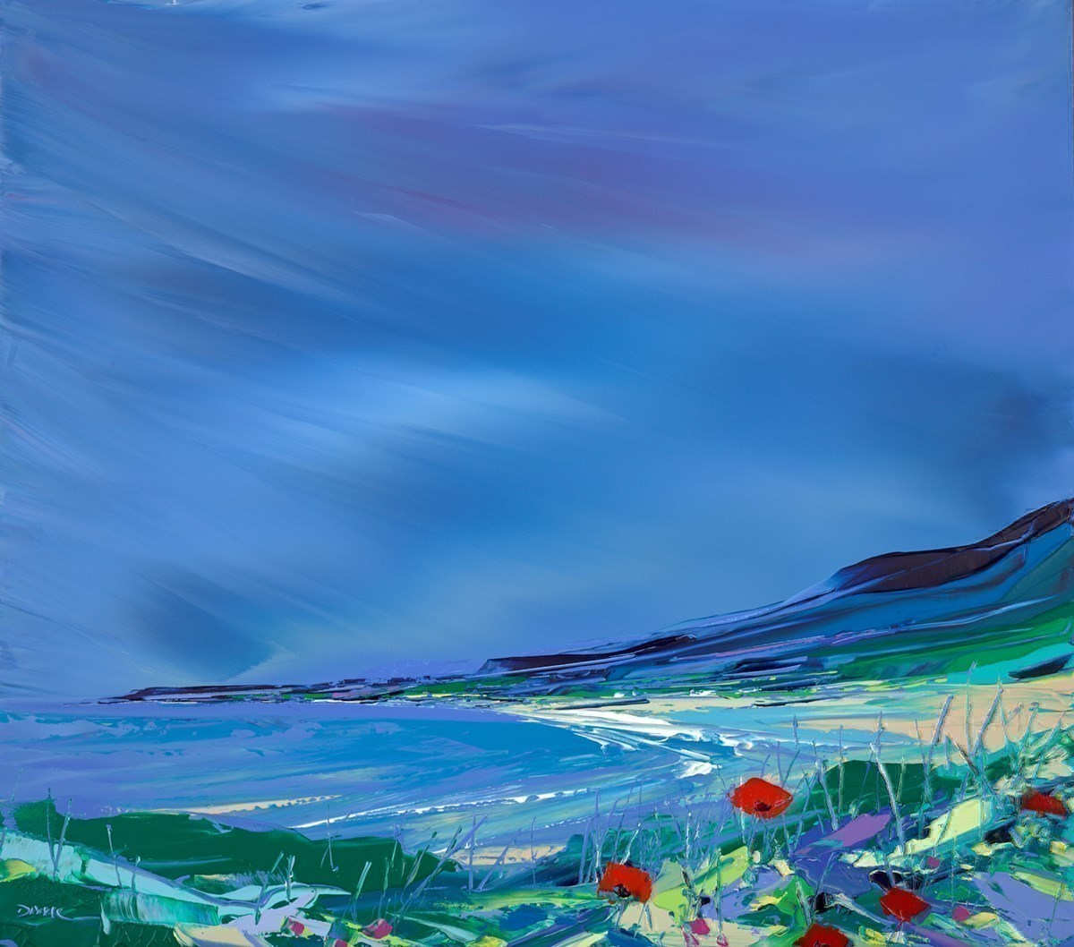 Down to the Beach by Duncan MacGregor -  sized 36x32 inches. Available from Whitewall Galleries